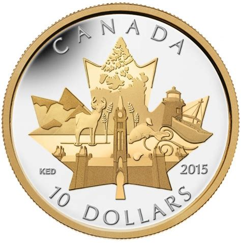 10 Dollar Silver Coin by 2015 Silver 10 Dollar Coin Celebrating Canada