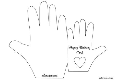 coloring pages birthday card for dad birthday card to dad coloring page