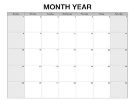 customizable calendar templates large custom calendar