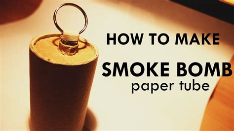 How To Make A Paper Smoke Bomb - how to make smoke bomb paper with pull ring ignitor