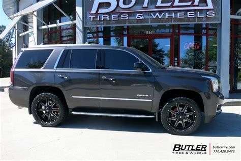 gmc yukon rims and tires gmc yukon with 22in fuel maverick wheels exclusively from