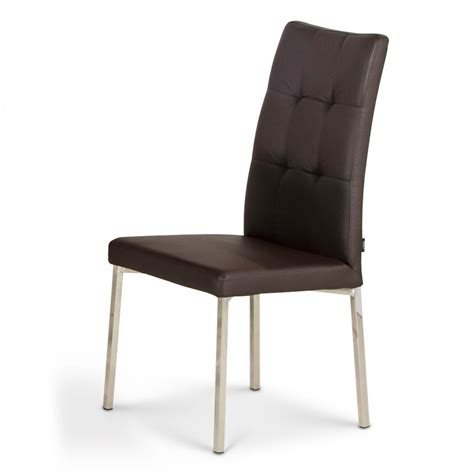 modern dining chairs modern dining chair with chrome legs brown zuri furniture
