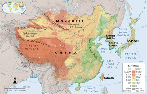 physical map of china geography linking to thinking