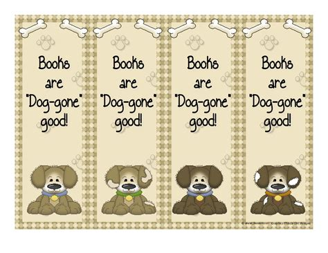 printable bookmarks of dogs 7 best images of printable dog bookmarks printable