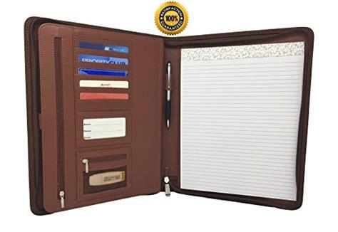 professional leather binders zippered leather business portfolio padfolio professional portfolio binder ebay
