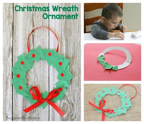kids art christmas reefs ornaments tear wreaths buggy and buddy