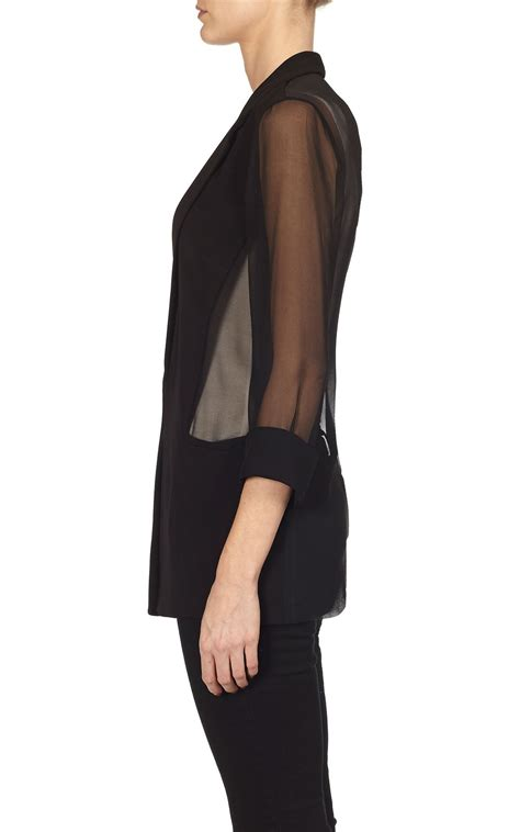 Sheer Jacket bailey44 giacometti jacket in black sheer blazer