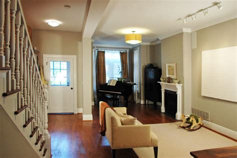 row home living room ideas downtown row house traditional living room other metro by merrick design and build inc