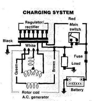 wiring diagram alternator with built in regulator wiring