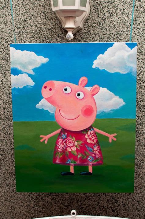 peppa pig painting i want to paint this for paintings in peppa