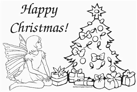 printable christmas tree fairy fairy coloring pages
