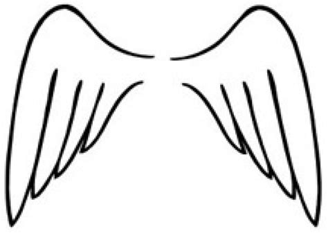 angel wings clip art sketch coloring page