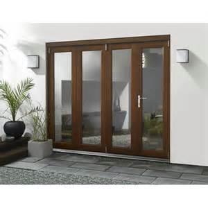 Patio Doors Folding Trufold 54 Elite External Pre Finished Hardwood Folding Sliding Patio Door Set Trufold From