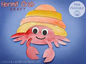 Hermit Crab Template by Hermit Crab Printable Craft