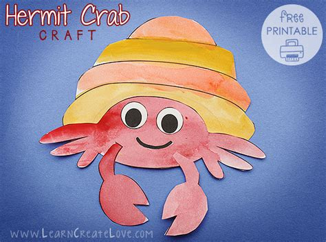 hermit crab template hermit crab printable craft