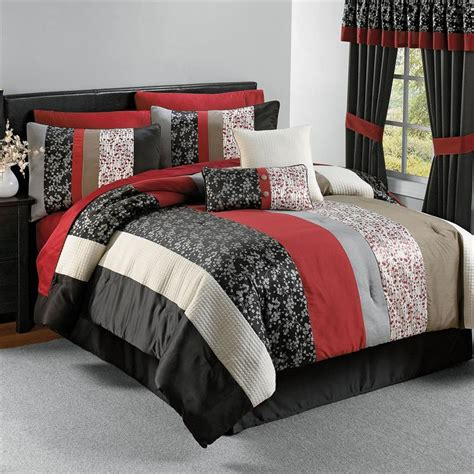 red bedroom comforter set minimalist bedroom with red black white striped floral