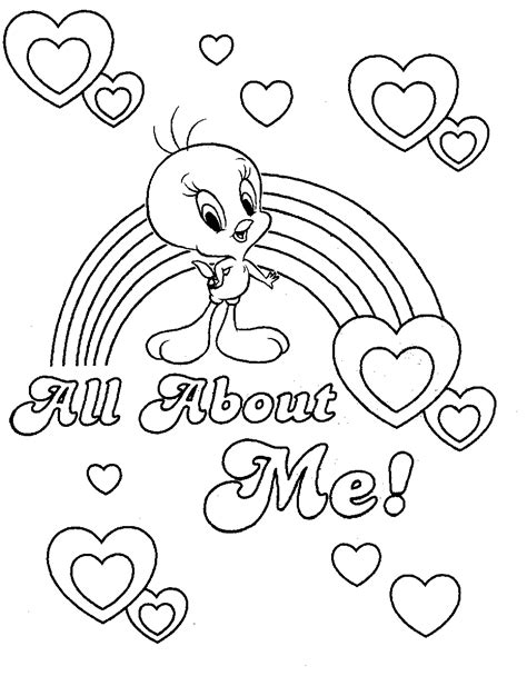 coloring page tweety bird coloring pages tweety bird free printable coloring pages