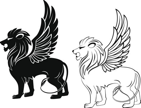 lion with wings tattoo awesome courage and strength ideas