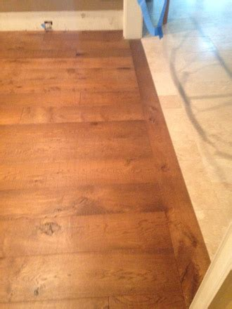 Replacing Travertine with European White Oak flooring