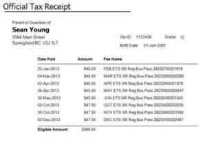 Tax Receipt Template Canada by Child Care Receipt Template Studio Design Gallery