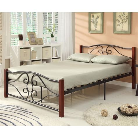 new size wood metal mattress foundation bed