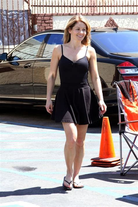 Candace Cameron Bure Upskirt at DWTS Rehearsal in LA ... Full House Dj Now