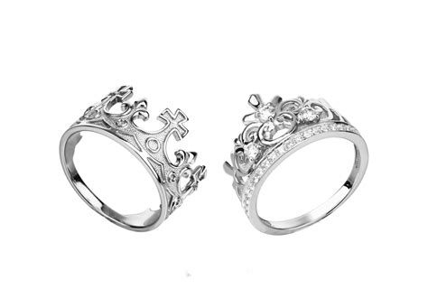 Paar Ringe by King And Crown Ring Set King And Rings Set King