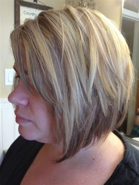 blonde hair foil ideas a line haircut with 3 color blonde and brown copper foil