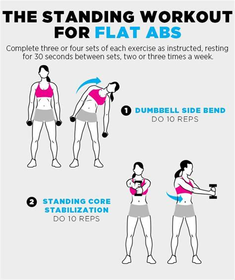 4 standing flat ab exercises for keeping up the cadence abs workout for