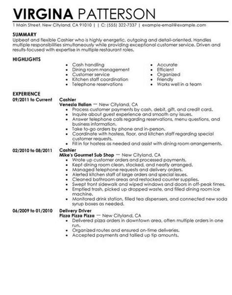 Fast Food Worker Sle Resume Fast Food Cashier Resume Sle Http Getresumetemplate