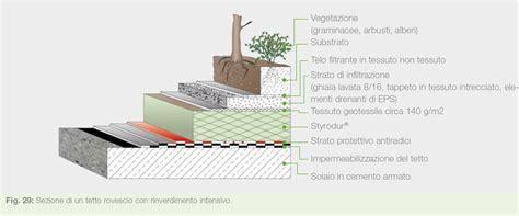 sezione tetto giardino il tetto verde vantaggi e caratteristiche