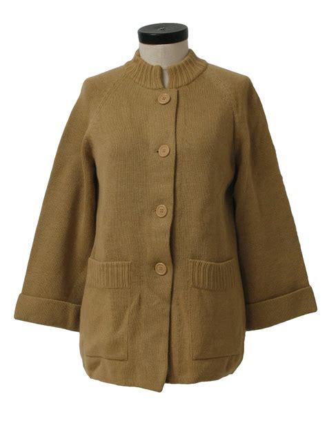 camel colored cardigan 60s caridgan sweater leroy 60s leroy womens camel