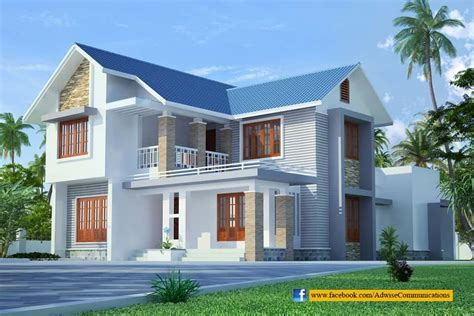 Home Design Roof Plans by Sloping Roof Kerala Home Design