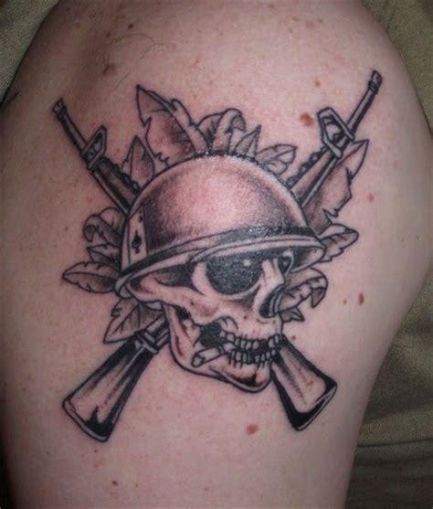 tattoo 3d kaki tatto tato tengkorak pejuang