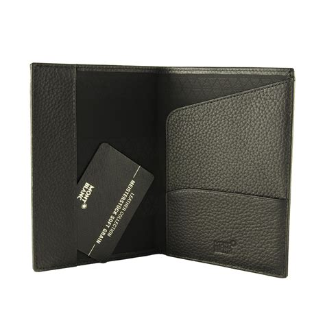porta passaporto porta passaporto in pelle nera montblanc luxuryzone