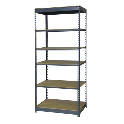 shelves at home depot edsal 84 in h x 36 in w x 24 in d 6 shelf boltless steel shelving unit in gray rs1508de the