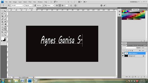Tutorial Adobe Photoshop Efek Tulisan | simple r study tutorial photoshop membuat efek tulisan