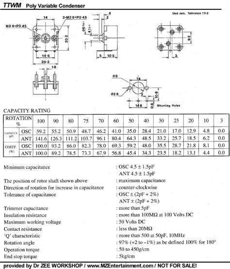poly variable capacitor poly variable condenser pinout question