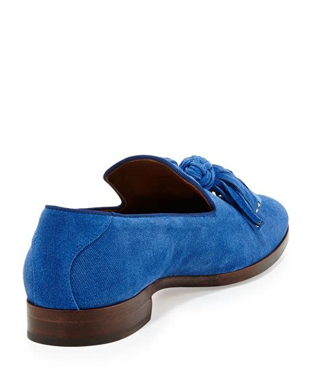 royal blue loafers for jimmy choo foxley s tassel suede loafer royal blue