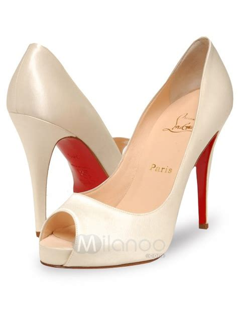 white satin high heels 4 7 high heel white satin peep toe pumps milanoo