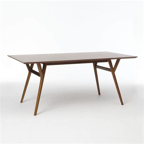 midcentury expandable dining table walnut