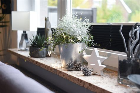 Weihnachtsdeko Fensterbank Silber by Weihnachtsdeko Impressionen