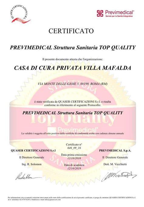 casa di cura villa mafalda villa mafalda certificazione top quality villa mafalda roma