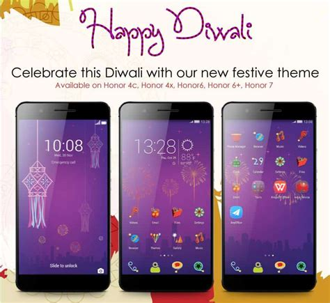 emui theme honor celebrate this diwali in your huawei honor phone with