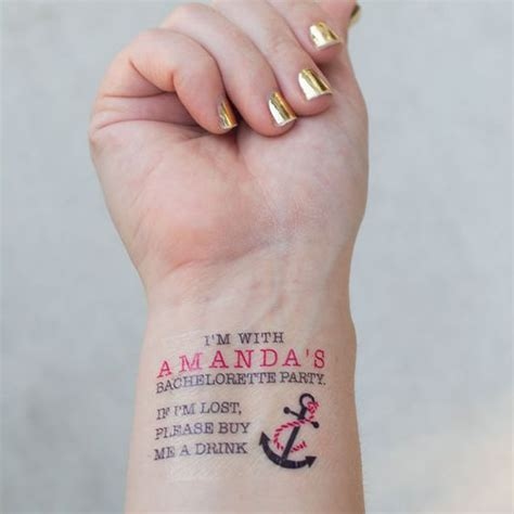 bachelorette temporary tattoos nautical themed bachelorette temporary tattoos with