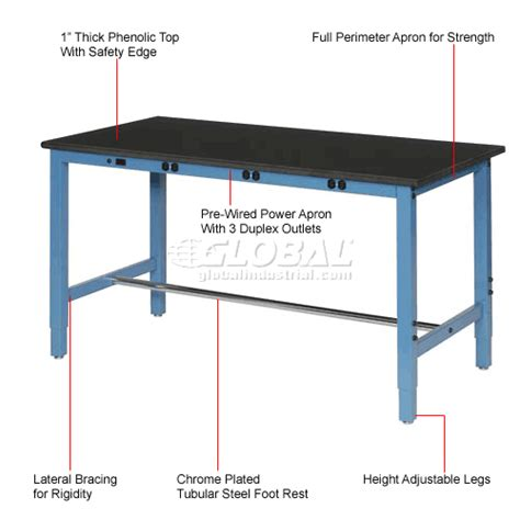 production work benches work bench with electric fixed height 72 quot w x 30 quot d