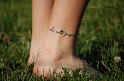 tattoo inspiration initialien latin script tattoo ankle to ink or not to ink