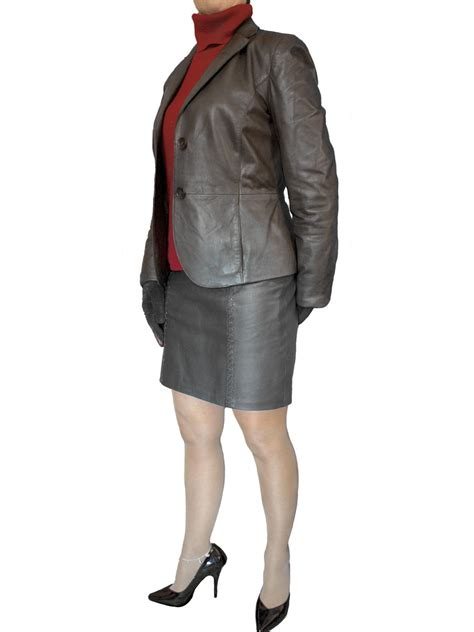 Leather Jaket Exclusive Leather Hoodie luxury tailored womens leather jacket blazer tout ensemble