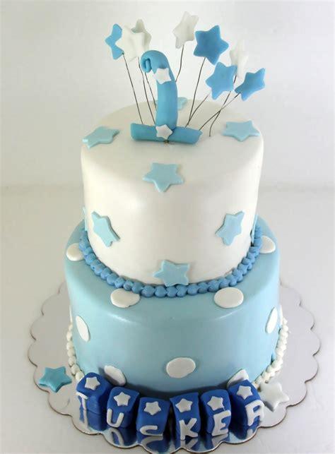 Birthday Cakes For Boys by Tastefully Done Baby Boy Blue 1st Birthday Cake