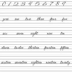 cursive number writing math and numbers brobst systems